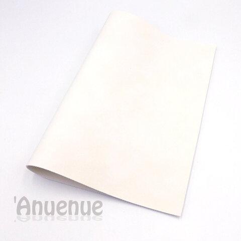 フェイクレザーフェルト A4( White / Stone wash )