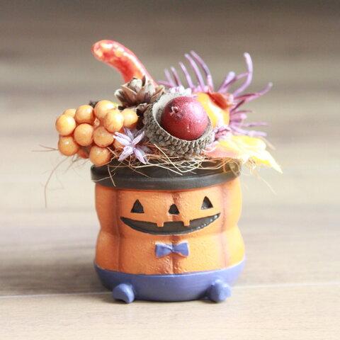 かぼちゃおばけのハロウィン・アレンジ(パープル)