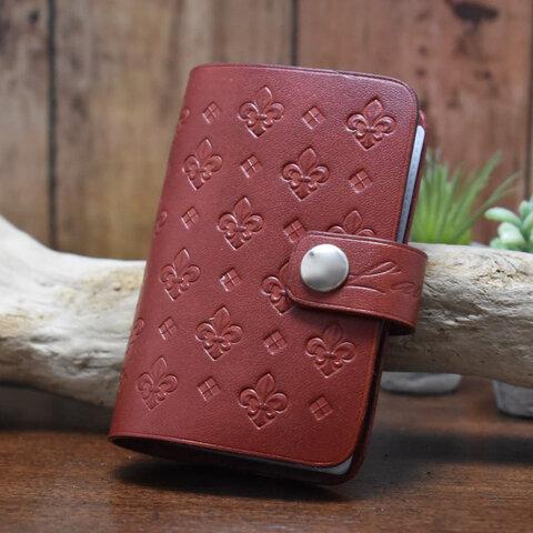 《百合の紋章》手帳型カードケース24ポケット
