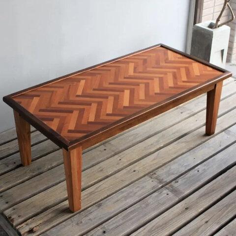 【送料無料】Nordic Herringbone Low Table