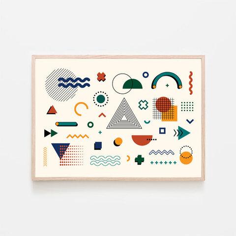 メンフィスデザイン / アートポスター カラー 北欧 ミニマル インテリア 2L〜 90s アブストラクト ジオメトリック 幾何学