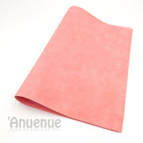 フェイクレザーフェルト A4( Pink / Stone wash )