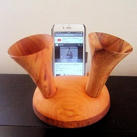 iphone スピーカースタンド バッファーローホーン丸型