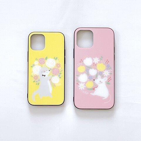 iPhone強化ガラスケース-花束シリーズ