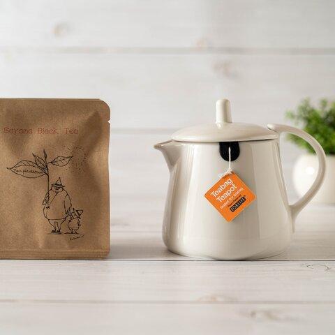 『ティーバッグ用』ティーポットと8種のお茶セット『白』