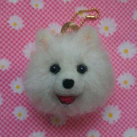 ♡ちまっと可愛い♪ポメラニアンちゃんキーホルダー♡犬