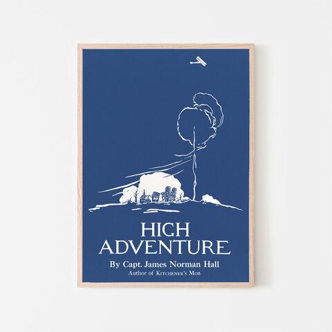 High Adventure / アートポスター イラスト 2L〜 ヴィンテージポスター ブルー系 モノトーン ホワイト