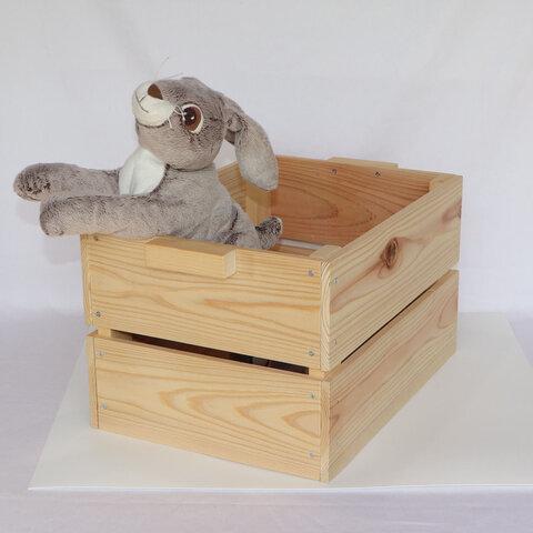 木目のきれいな木箱(大)白木
