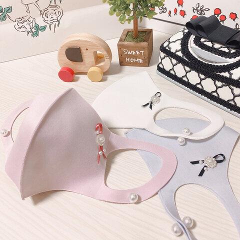 マスク パールマスク イヤリング風パール 大人可愛い