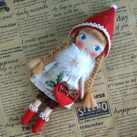 布人形クリスマスドールmusicさん(送料無料)