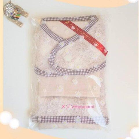 【出産祝い】3点オーガニックコットン ギフトセット(ハンドタオル&ハンカチ)