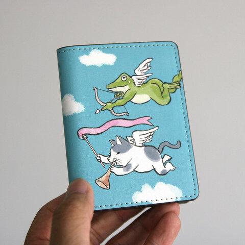 名刺・カードケース 天使がやってきた(ブルーグレー)