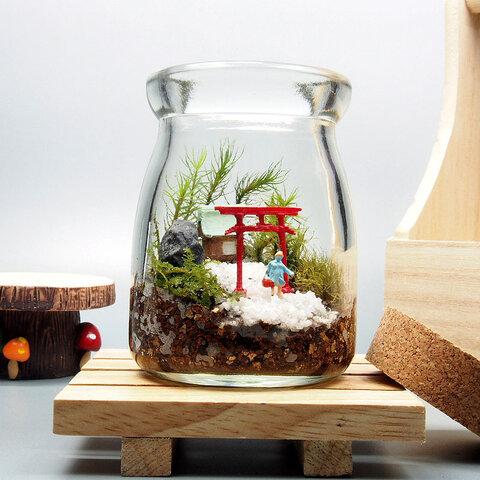 苔神社【苔テラリウム・手作りキット一式】コルク付きビン