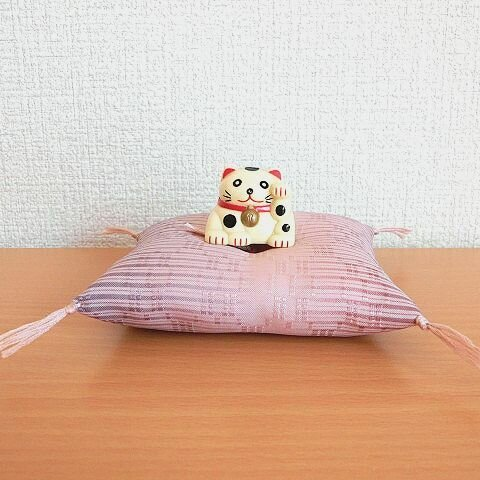 お人形・置物用お座布団 桜霞10cm角