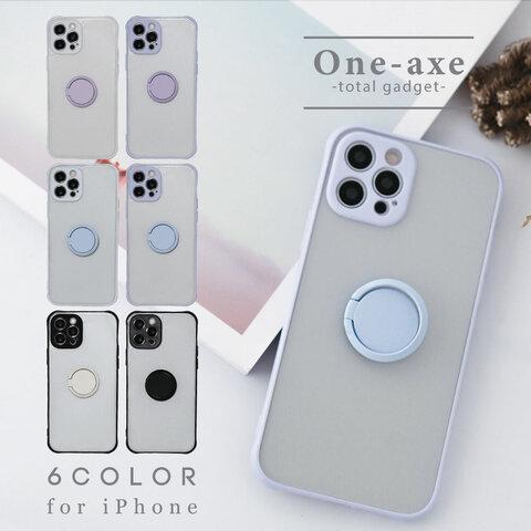【送料無料】iPhone 13 12 se 落下防止 リング  第二世代 se2 12 11 pro xr カバー ケース くすみカラー かわいい オシャレ シンプル リング