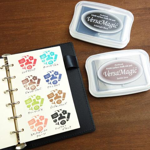 【手帳に最適・裏写りしくいスタンプ台】ツキネコ バーサマジックL 全8色