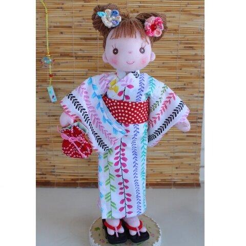 着せ替え布人形 金魚の浴衣セット パセリちゃん 手作り人形 布人形 ハンドメイドドール
