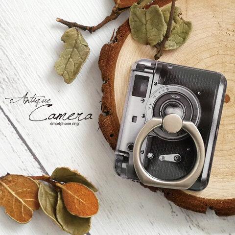 スマホリング【アンティークカメラ】名入れ可 レトロ