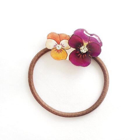 VIOLA hair elastic -orange&purple-