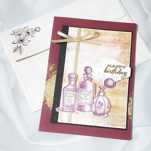 【誕生日】 メッセージカード 1枚 <おまけのシーリングスタンプ+ミニカード付>