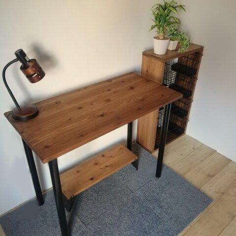【 SALE 】 無垢材 デスク 工具不要 テーブル 机 900×450 子供部屋 リビング ワークテーブル