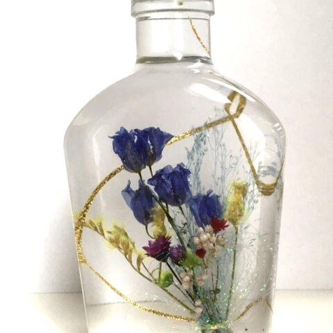 涼しげなブルーの花束ハーバリウム