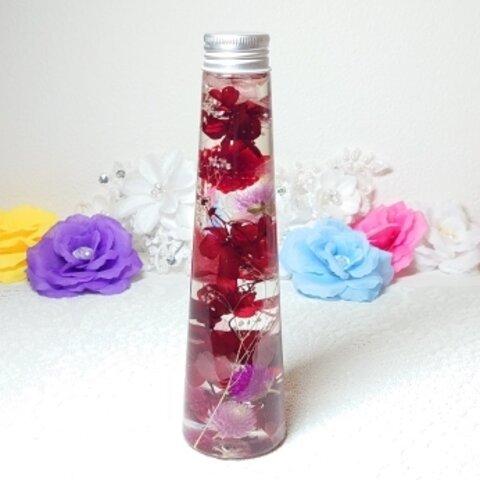 ハーバリウム  紅の紫陽花*°