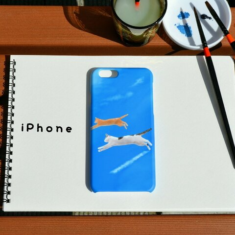 iPhoneケース ~flying cats~空飛ぶ猫達*【送料無料】