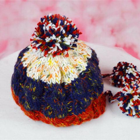【受注生産】【Lady's】ほっこりあたたか冬帽子 NO:001