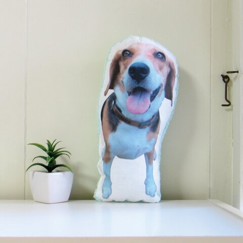 犬 猫 ペット 動物 ビーグル クッション ぬいぐるみ インテリア メモリアル プレゼント オーダーメイド 画像 写真 フワモコB-n