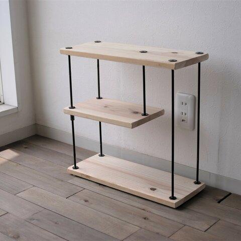 【SALE】wood iron shelf 450*450*180(トイレ ラック スパイス アイアン 棚 キッチン シェルフ ウッド トイレットペーパー 鉄 木 収納棚 アンティーク ビンテージ)