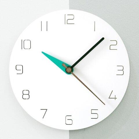 【壁掛け時計 ウォールクロック】3 modern colors - mint