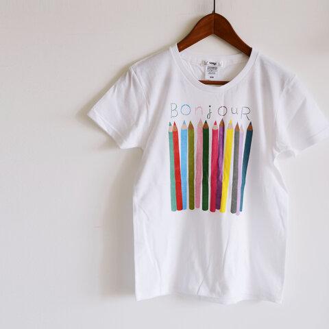 """おとな用 """"色えんぴつ"""" Tシャツ ベーシックタイプ おそろいコーデでおでかけ♪"""