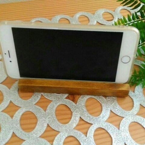 木製BeeWax仕上げ スマホスタンドiphone