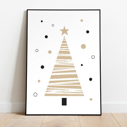 インテリアポスター シンプル クリスマスツリー01 * 季節 アート ポスター A4 X'mas 北欧 北欧風 北欧インテリア クリスマス 雑貨 かわいい シンプル ナチュラル