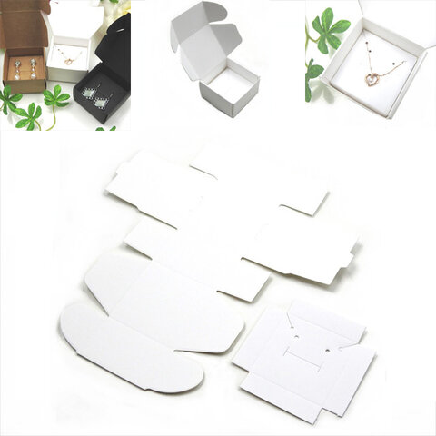 【10枚】アクセサリーボックス★ホワイト 白★ジュエリーボックス 折りたたみ 箱 ラッピング