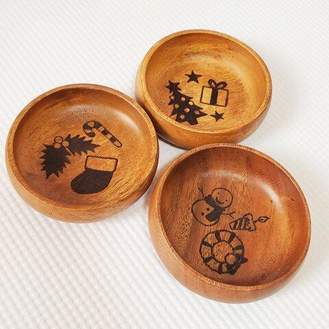 クリスマス 木製 小皿