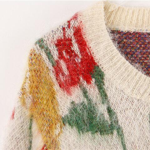 受注制作  秋と冬*大人の可愛いセーター  ウール✿