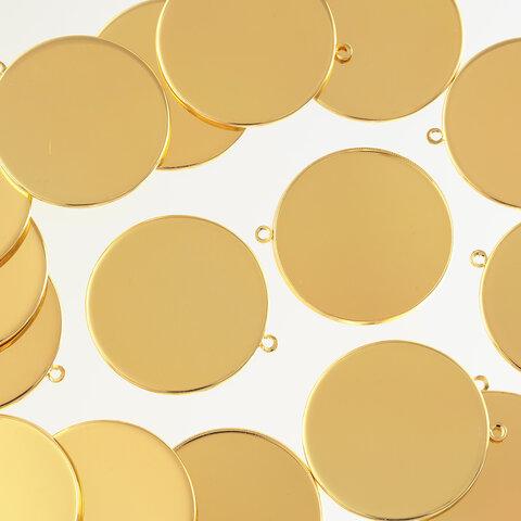 ミール皿 ゴールド 35mm 大きめ カン付き 20個 セッティング 台座 レジン アクセサリー パーツ 金具 AP2447