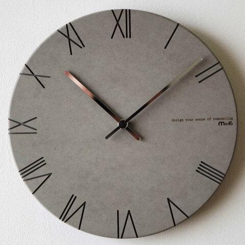 【壁掛け時計 ウォールクロック】 ECO ROMAN - オールライトグレー