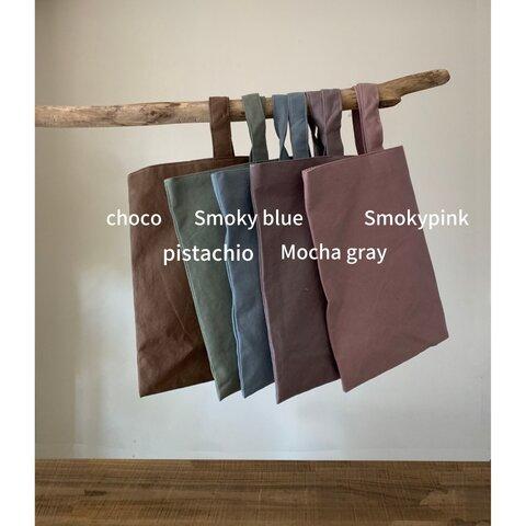 柔らかくてしっかりした厚みのシンプルレッスンバッグ