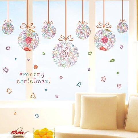 M257ウォールステッカークリスマス雪だるま 剥がせるシートインテリア飾り付け