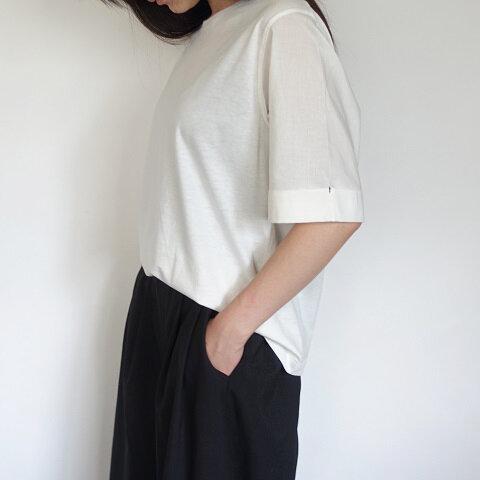 異素材袖折り返しデザインTシャツ