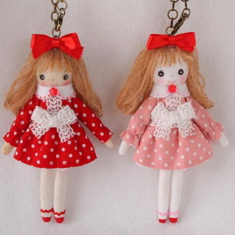 完成品★バッグチャームドール 手作り人形 布人形 ハンドメイドドール