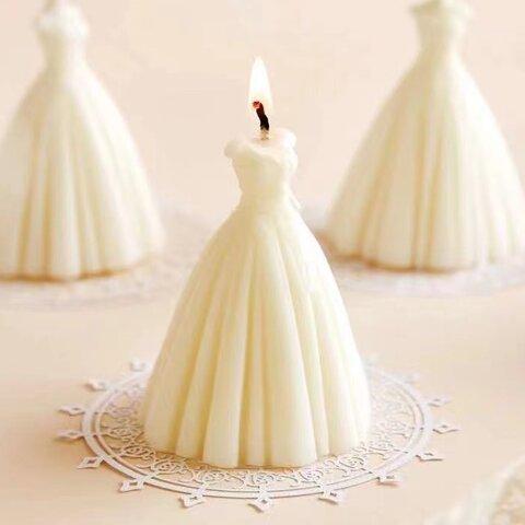 1p Nart Candle ウェディングドレス花嫁のモールド シリコンモールド キャンドルモールド 花嫁 ウェディングドレス