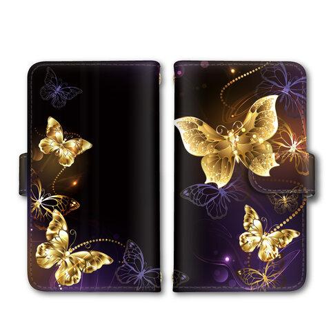 スマホケース iPhone Android 蝶々 蝶 ミラータイプ カードタイプ 送料無料