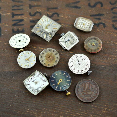 時計 ムーブメント 文字盤付き 10個 (MB01)