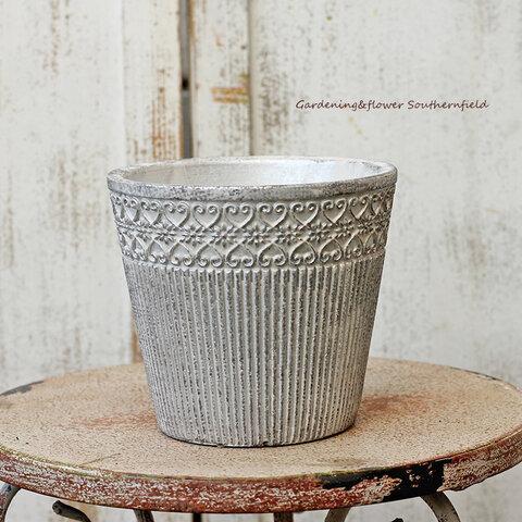 ガーデニング雑貨 おしゃれ アンティーク調陶器鉢 コバルト・ラウンドポット Lサイズ