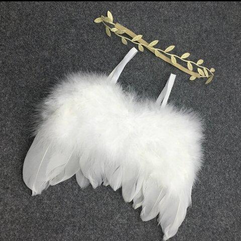 ニューボーンフォト 天使 コスチューム ゴールド