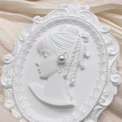 1p Nart Candle 彫刻フォトフレーム欧式少女のモールド シリコンモールド キャンドルモールド フォトフレーム 少女
